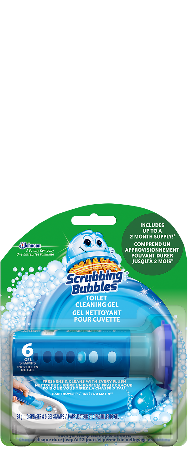 Scrubbing Bubbles Toilet Gel Rainshower